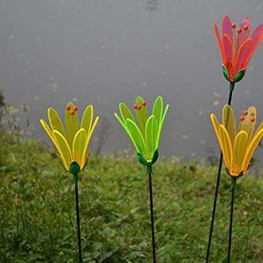 Gartenstecker Blume Emelie, farbig sortiert (1 Stück)
