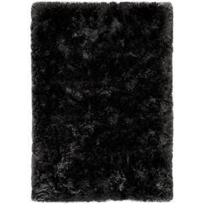 Hochflorteppich Bright Schwarz 70x140 cm