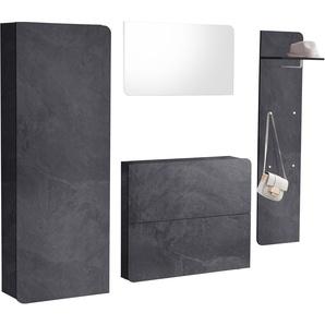 Garderoben-Set  »Goccia«, weiß, Hochglanz-Fronten, FSC®-zertifiziert, Places of Style