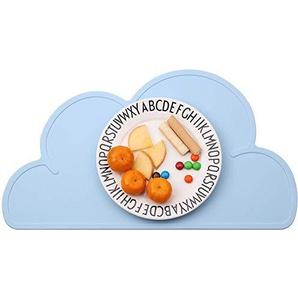 Losuya Tragbare Silikon Cloud Placemat Faltbare beständige Geschirr Teller Tischset für Kinder und Kinder (Blau)