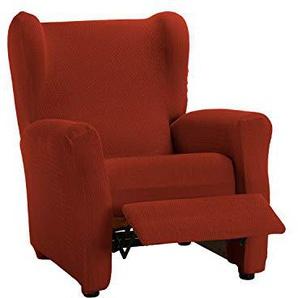 Martina Home Schutzhülle aus elastischem Sessel Modell Tunez Bezug für Relax-Sessel 32x42x8 cm Rostrot (Teja)