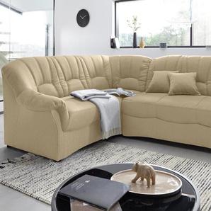 Domo Collection Ecksofa ohne Schlaffunktion, beige, komfortabler Federkern