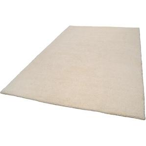 Theko® Wollteppich »Tanger 1«, 90x160 cm, 20 mm Gesamthöhe, weiß