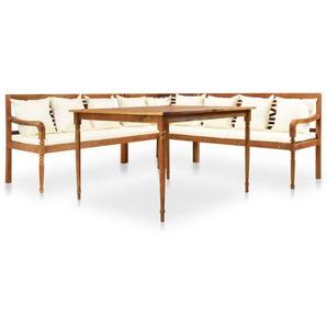 4-tlg. Garten-Lounge-Set mit Auflagen Massivholz Akazie - VIDAXL