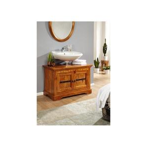 Waschbeckenunterschrank Akazie 88x43x60 honig lackiert OXFORD #01005