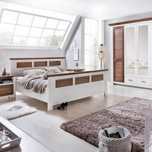 Premium collection by Home affaire Schlafzimmer-Set »Laguna«, (Set, 4-tlg), mit Lamellentüren