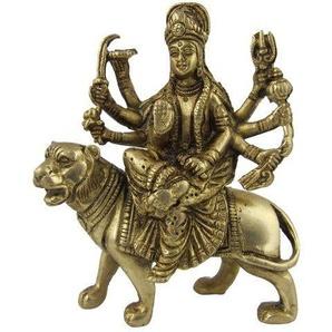 ShalinIndia Durga Messing Statue Gottin Sitzend Auf Löwen