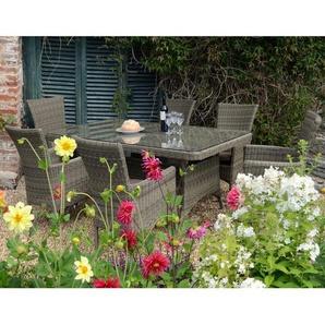 6-Sitzer Gartengarnitur Langton mit Polster