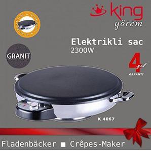 King GRANIT Fladenbäcker Crepes-maker Pitabrot- und Crêpes-Backgerät Yufka Sac Gözleme