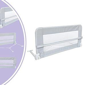Leogreen - Baby- und Kleinkind-Sicherheits-Bettgitter, Klappbare Kinderbett-Tür, 1,2 Meter, Grau, Material: Nylongewebe