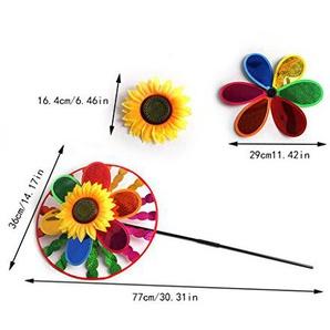 fogun Colorful Sunflower Windmühle Wind Spinner Home Garden Yard Dekoration Kinder Spielzeug