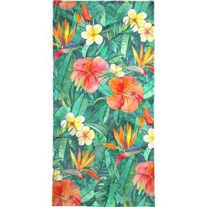 Handtuch »Classic Tropical Garden«, Juniqe, Weiche Frottee-Veloursqualität