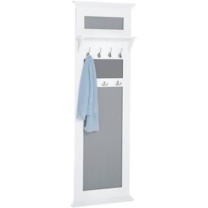 Garderobenpaneel aus Massivholz, weiß, Gr. 180/60/14.5 cm,  home