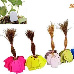 FISHSHOP Pflanzenschilder Hang Tag Etiketten Setzling Garten Blumentopf Kunststoff Tags Nummer Platte Hängen Wiederverwendbare PVC Garten Decor