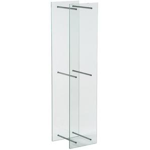 TermaTech Kaminholzregal aus Glas, 140 x 33 x 30 cm