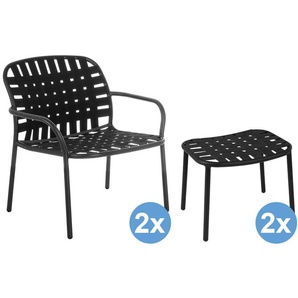 Emu Yard Lounge Sessel + 2 Fußhocker