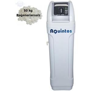 Wasserenthärter MKB 80 Eco-Line von Wasseraufbereitung | Entkalker mit Bypass-Funktion für 100% kalkfreies Wasser | Komplettset inkl. 50 kg Regeneriersalz - AQUINTOS-WASSERAUFBEREITUNG