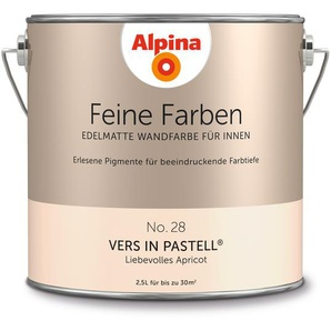 Alpina Wandfarbe Feine Farben No. 28 Vers in Pastell, apricot, 2,5 l