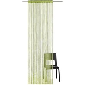 My Home Fadenvorhang »Fao-Uni«, H/B 145/145 cm, grün, transparenter Stoff