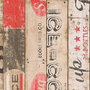 Papiertapete, livingwalls, »Mustertapete Boys and Girls 5«, Holz
