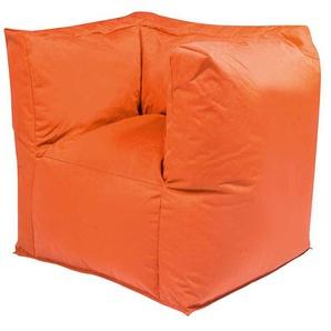 Sitzsack Sessel in Orange Outdoor