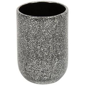 Croydex Moderne Edelstahl abgewinkelt Haltegriff mit Unterputzarmaturen, Plastik, Silber Glitter, 7 x 7 x 10 cm