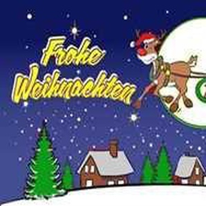 UB Fahne / Flagge Frohe Weihnachten Blau Weihnachtsfahne 90 cm x 150 cm Neuware!!!