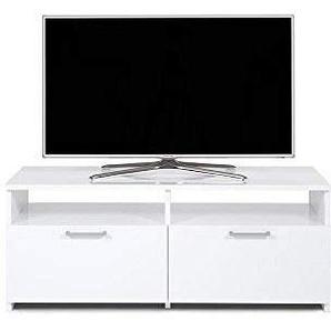 Mobili Fiver Rachele Mobile-TV, Holz, Weiß glänzend, 112x 42x 45cm