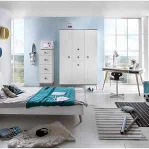 JUSTyou Estelle Kinderzimmer-Set Kinderzimmermöbel Komplett Weiß