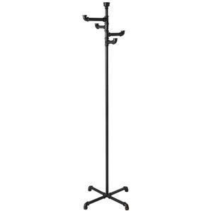 Garderobenständer im Industriestil aus schwarzem Metall
