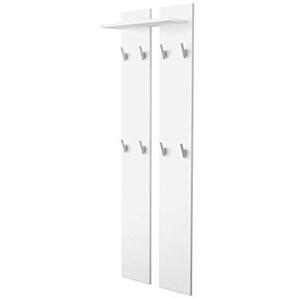Vladon Wandpaneel Garderobenpaneel 170 in Weiß matt