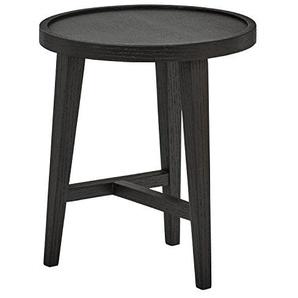 Rivet Modern Runder Satztisch aus Holz, B 40cm, Dunkle Eiche