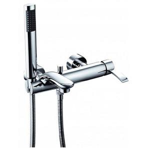 Einhebelmischer Wannenarmatur Badarmatur Wasserhahn für die Badewanne komplett mit Duschschlauch und Duschkopf - Serie MALACHIT - KFA