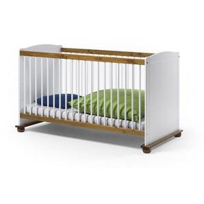 Kinderbett FIORE 70x140 cm Farbe Weiß Kiefer Massivholz Breite 80 cm