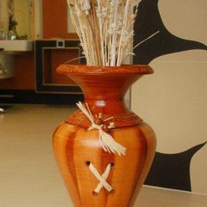 Deko-Shop-Hannusch Sehr edle große Vase/Bodenvase, echte Handarbeit
