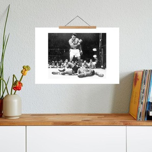 Muhammad Ali rematch with Sonny Liston, 1965 - Premium Poster