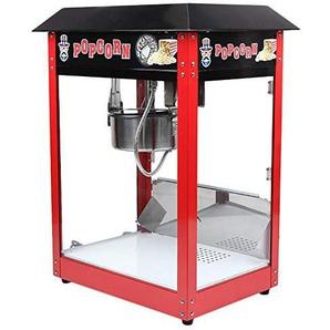 Kitechildhrrd 1370W Popcornmaschine Retro Popcornmaker Popcornautomat mit Wärmeplatte und Innenbeleuchtung Elektrisch Kommerziell Popcorngerät Heißluft Fettfrei Ölfrei XXL Rot 55x41x75CM
