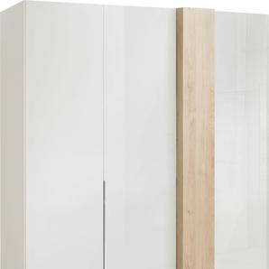 Drehtürenschrank in Weißglas mit Dekorfront, Breite 175 cm, »fontana«, FSC®-zertifiziert, set one by Musterring