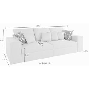 Nova Via Big Sofa, grau, hoher Sitzkomfort