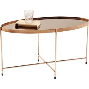 Couchtisch Miami Oval Rosegold 83x40cm