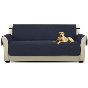 PETCUTE Luxus Gesteppte Stuhlabdeckung Sofabezug Anti-rutsch extra weich alle Größen Weinrot Dreisitzer