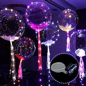 Party Luftballons, sundlight 45,7cm Luminous LED transparent rund Bubble Ballon Dekoration Party Weihnachten Thanksgiving Hochzeit, PVC, 5 Stück