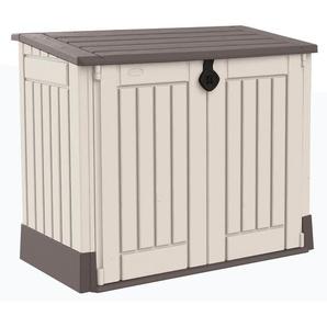 Keter Garten-, Mülltonnen- & Aufbewahrungsbox mit Bodenplatte Beige-Braun