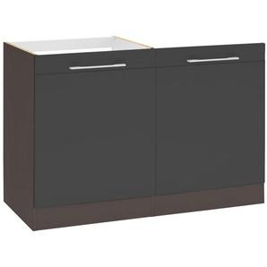 HELD MÖBEL Spülenschrank »Mito« Breite 60 cm, inkl. Tür/Sockel für Geschirrspüler, grau