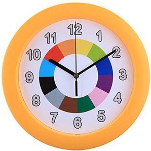 Mecotech Wanduhr Kinder, 25CM Modern Kinderwanduhr Nicht-tickende Lautlos Kinder Wanduhr Kinderzimmer Uhr ohne Tickgeräusche