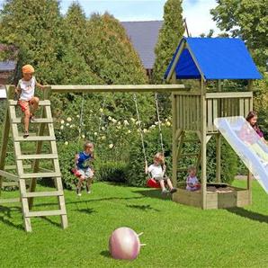 Spielanlage / Spielturm mit Doppelkletterschaukel Chris 470x190x296 cm