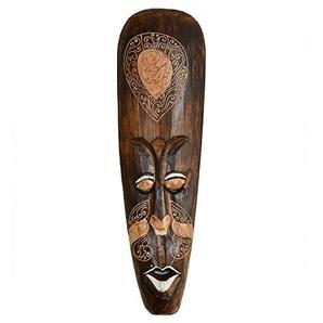 maDDma  Wandmaske, 50cm, Handmade, Dekomaske, Holzmaske, Echtholz, braun