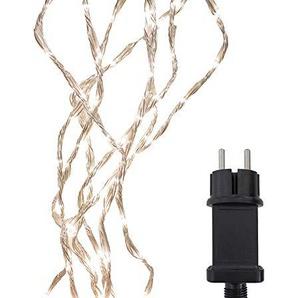 Lumineo 494759 160er LED Kette Eisregen 5 Programme Schneefalleffekt Kabel transparent IP44 Spritzwassergeschützt 1 x 1 Meter