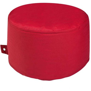 Sitzpouf in Rot Outdoor