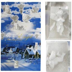 blau Kalender Engel Adventskalender mit 24 Engel gefüllt Advent Weihnachtsdekoration Weihnachten